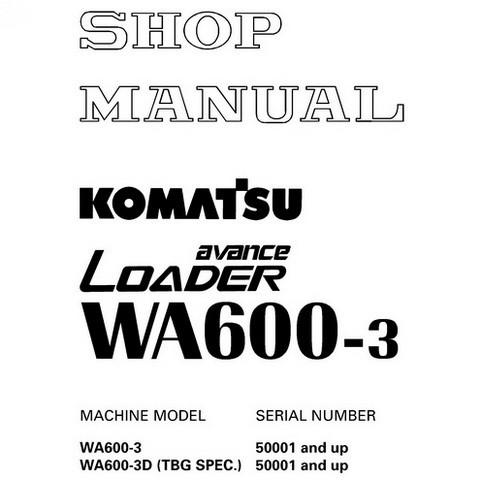 Komatsu.WA600-3 avance Wheel Loader Service Repair Shop Manual (50001 and up) - SEBM013218