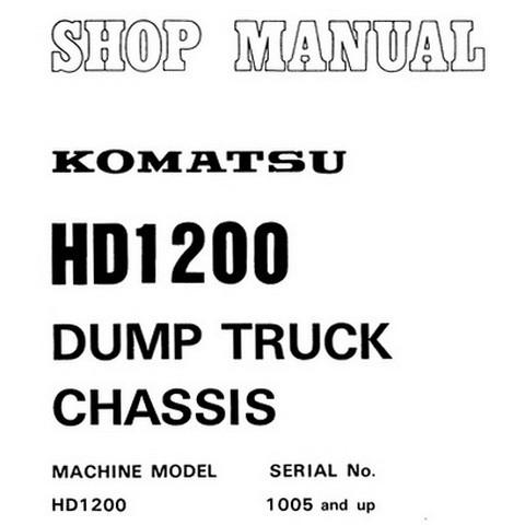 Komatsu HD1200-1 Dump Truck Chasis Service Repair Shop