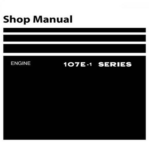 Komatsu 107E-1 Diesel Series Engine Service Repair Shop Manual - SEN00161-08