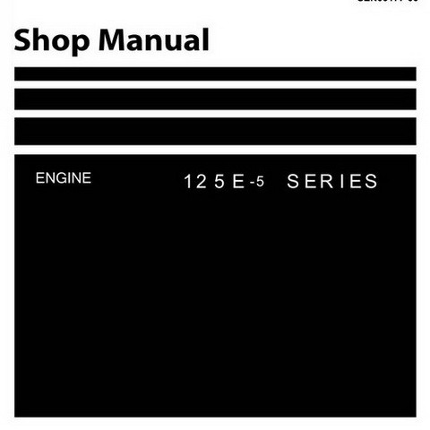Komatsu 125E-5 Series Diesel Engine Service Repair Shop Manual - SEN00177-00