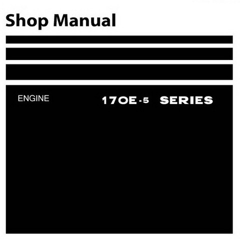 Komatsu 170E-5 Series Diesel Engine Service Repair Shop Manual - SEN00190-00