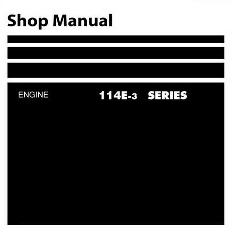 Komatsu 114E-3 Series Diesel Engine Service Repair Shop Manual - SEN00169-00