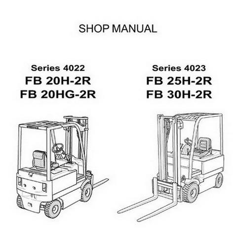 Komatsu Series 4022 & 4023 Forklift Truck Service Repair Workshop Manual - 60424171