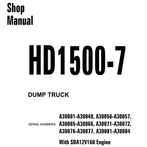 Komatsu HD1500-7 Dump Truck Service Repair Shop Manual (A30001-A30084) - CEBM019905