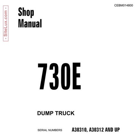 Komatsu 730E Dump Truck Service Repair Shop Manual - CEBM014800