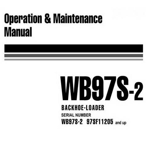 Komatsu WB97S-2 Backhoe Loader Operation & Maintenance Manual (97SF11205 and up) - WEAM000704