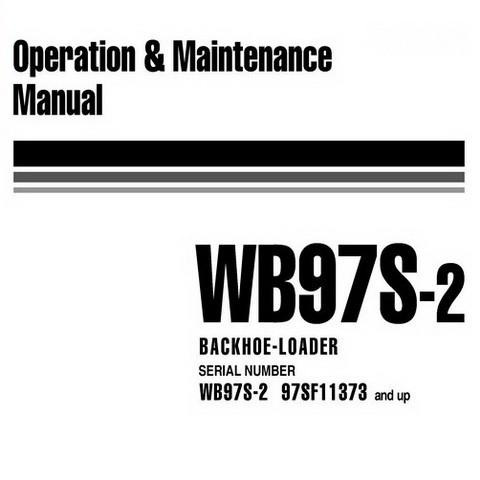 Komatsu WB97S-2 Backhoe Loader Operation & Maintenance Manual (97SF11373 and up) - WEAM000705