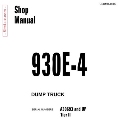 Komatsu 930E-4 Dump Truck Service Repair Shop Manual