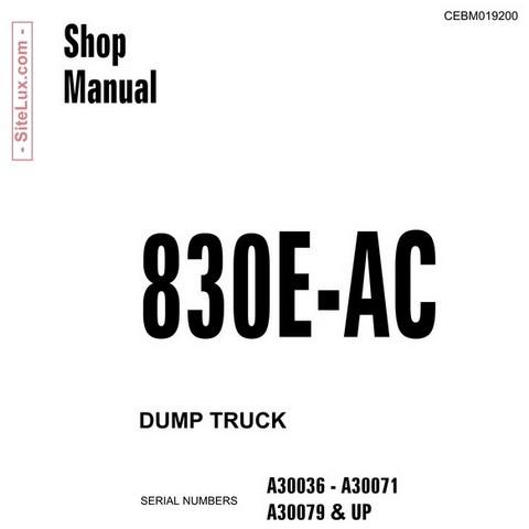 Komatsu 830E-AC Dump Truck Service Repair Shop Manual - CEBM019200