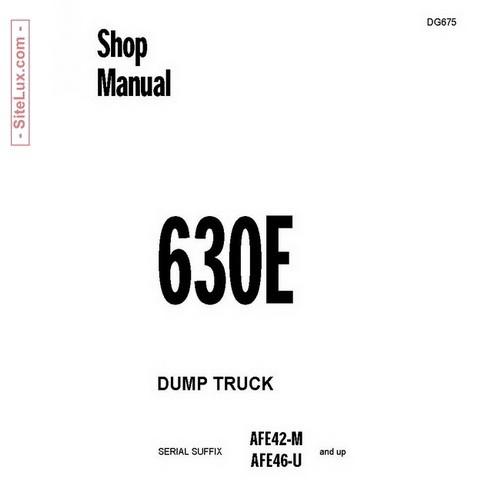 Komatsu 630E Dump Truck Service Repair Shop Manual - DG675