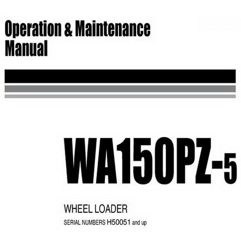 Komatsu WA150PZ-5 Wheel Loader Operation and Maintenance Manual (H50051 and up) - VEAM420100