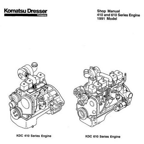 Komatsu 410 & 610 Series Engine 1991 Model Service Repair Shop Manual - CEBD610SHO