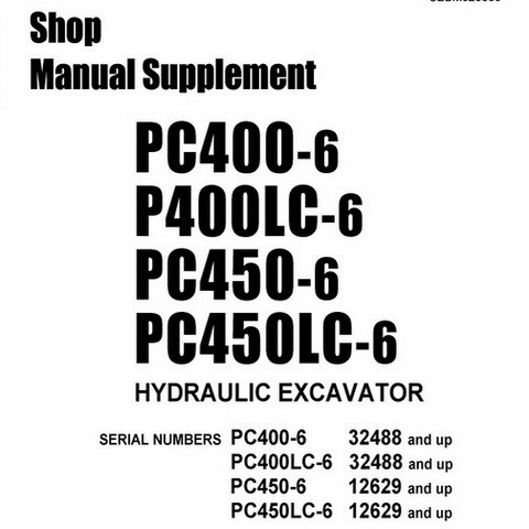 Komatsu PC400-6, PC400LC-6, PC450-6, PC450LC-6 Hydraul