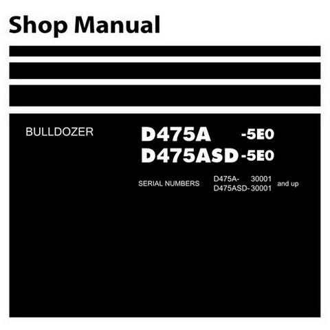 Komatsu D475A-5E0 & D475ASD-5E0 Bulldozer (30001 and up) Service Repair Shop Manual - SEN00203-18