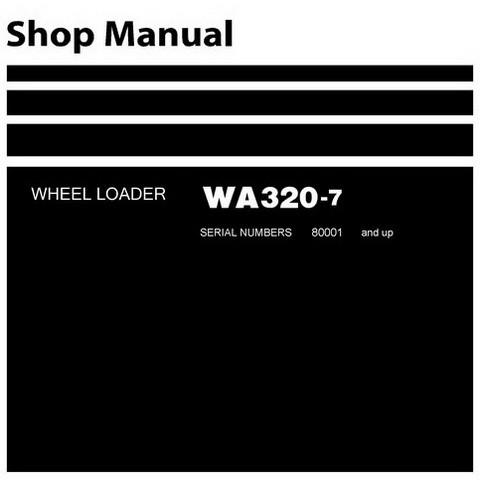 Komatsu WA320-7 Wheel Loader Service Repair Shop Manual (80001 and up) - SEN06202-01