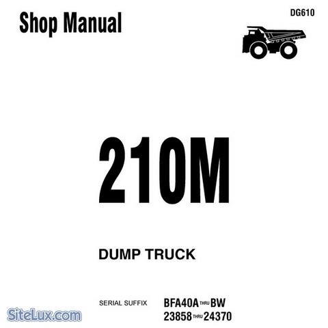Komatsu 210M Dump Truck Service Repair Shop Manual - DG610