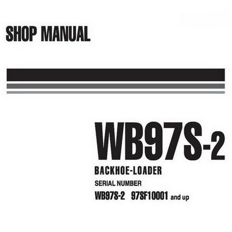 Komatsu WB97S-2 Backhoe Loader Service Repair Shop Manual (97SF10001-up) - WEBM002400