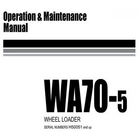 Komatsu WA70-5 Wheel Loader Operation and Maintenance Manual (H50051 and up) - VEAM320200