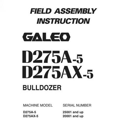 Komatsu D275A-5, D275AX-5 Galeo Bulldozer Field Assemb