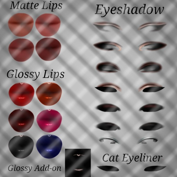 Makeup PSD add ons for Skin Textures. IMVU