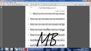 Sheet Music - Cello Part - Can't Help Falling In Love