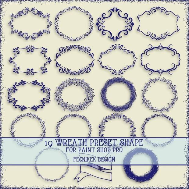 19 wreath preset shape for paint shop pro