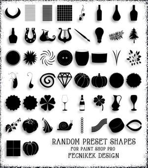 Random preset shapes for Paint Shop Pro