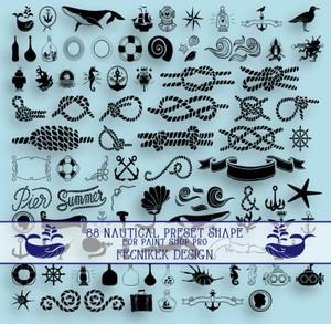 88 nautical preset shape for Paint Shop Pro