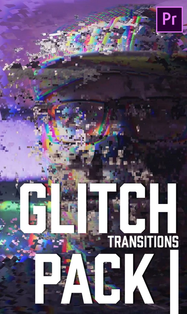 Glitch Transitions Pack One - Premiere Pro cc Preset