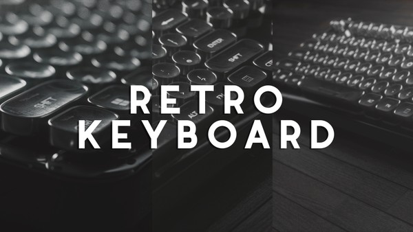 Retro Keyboard 3D Model