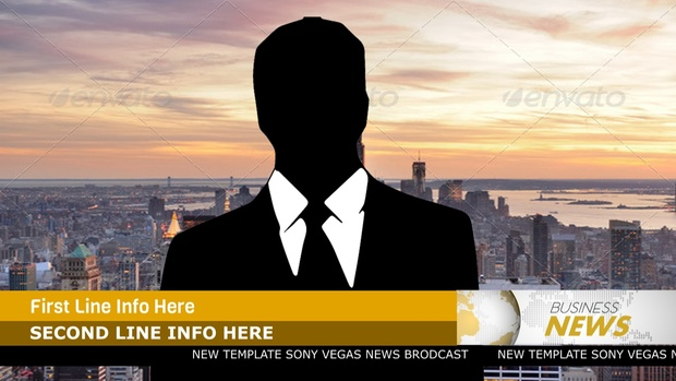 Template Broadcast News sony vegas 12 13