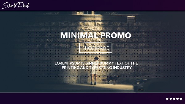 Template Minimal Promo sony vegas 12 13