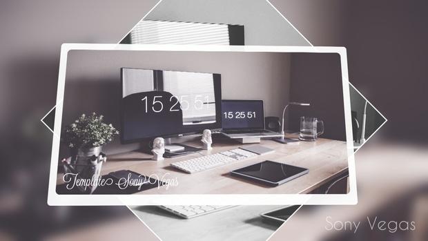 Template Photo Frames Slideshow sony vegas 12 13