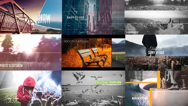 TOP 10 Photo Slideshow Bundle  Template Sony Vegas Pro   #1