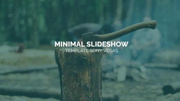 Template Minimal Slideshow sony vegas 12 13