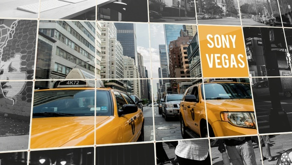 Template Squared  Slideshow sony vegas 12 13 14 15 And Above