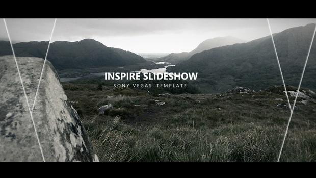 Template Inspire Photo Slideshow  sony vegas 12 13 14