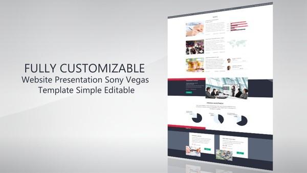 Website Presentation/Promo Template sony vegas 12 13