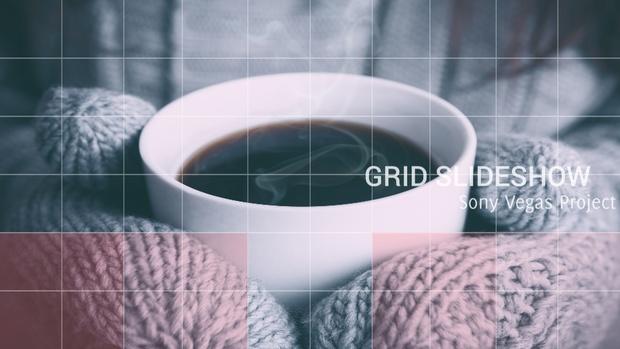Template Grid Slideshow sony vegas 11 12 13