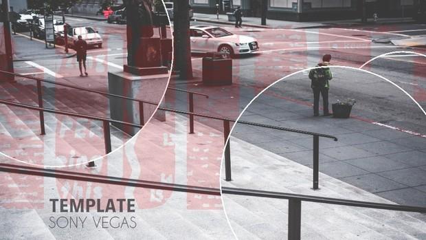 Template Modern Circles sony vegas 11 12 13