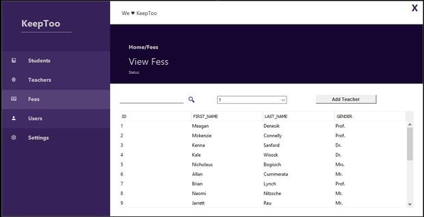 Java Swing - Administration UI 2018 [KeepToo_S_Dashboard]