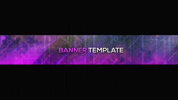 galaxy youtube photoshop banner template