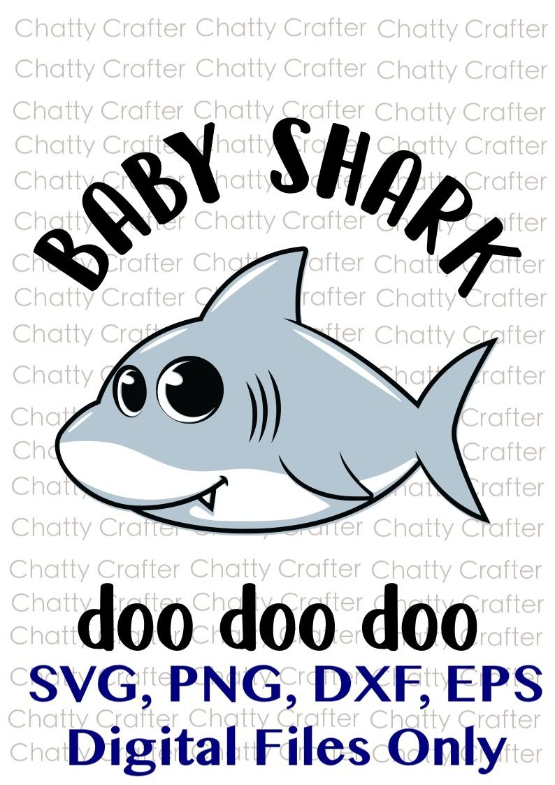 Shark Fin Cutting Files Daddy Shark EPS SVG Print File PNG