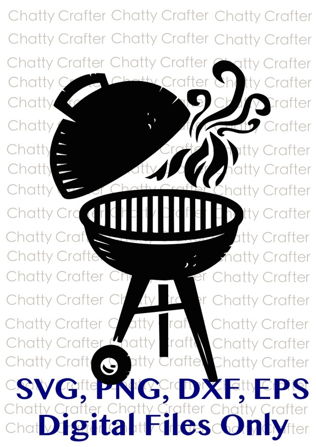 Charcoal Grill - Grill Out - BBQ - Digital Downloads - SVG PNG EPS DXF