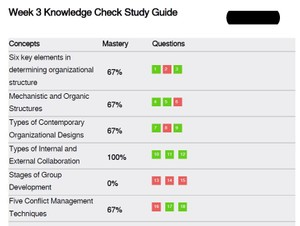 MGT 521 Week 3 Knowledge Check Study Guide