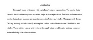 MKT 421 Map the Supply Chain Paper Week 5 Individual Essay