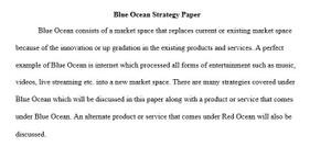 Blue Ocean Strategy in Marketing – MKT 421