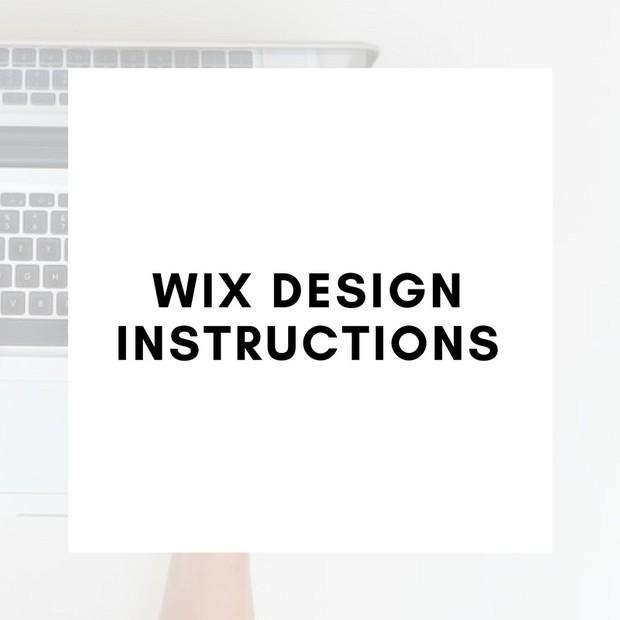 WIX Design Instructions
