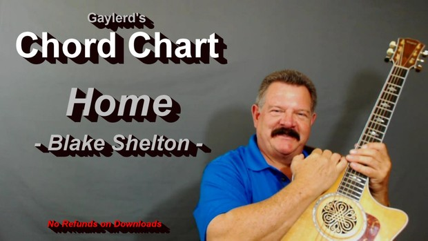 HOME - Blake Shelton  (CHORD CHART)