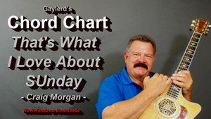 That's What I Love About Sunday - Chord Chart